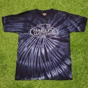Vintage Harley Davidson Tie Dye Tee